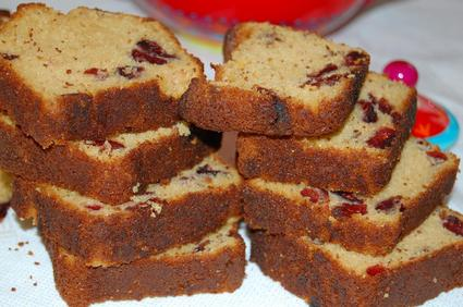Recette de cake aux cranberries à la vanille