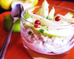 Recette verrine de rillettes de thon et mikado de pomme verte