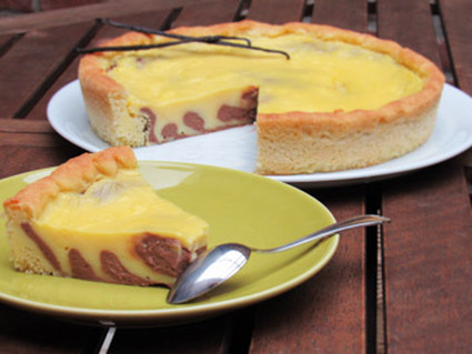 Recette de tarte au flan marbrée