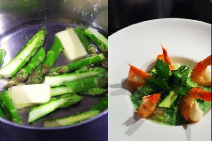 Recette de risotto détox aux gambas et asperges vertes facile et ...