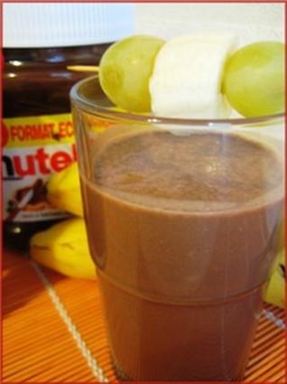 Recette de smoothie banane-nutella