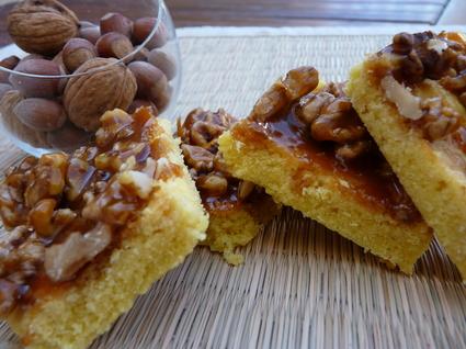 Recette de sablés au chocolat blanc et ses noix caramélisées