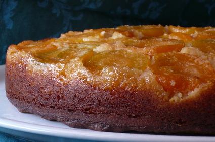 Recette de gâteau renversé et mouillé à l'abricot