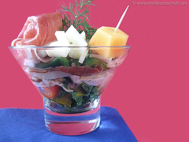 Verrine de saumon au jambon de bayonne  fiche recette ...
