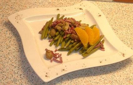 Recette de salade de haricots verts aux marrons