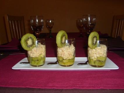 Recette de verrines fraîcheur au crabe, kiwis et citron vert