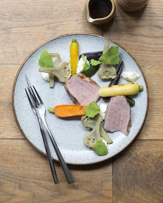 Quasi de veau, faisselle et légumes pour 4 personnes