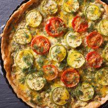 Tarte légère courgette tomate