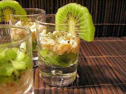 Recette de verrines au crabe et au kiwi