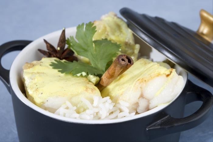 Recette de curry de lotte au riz basmati facile et rapide