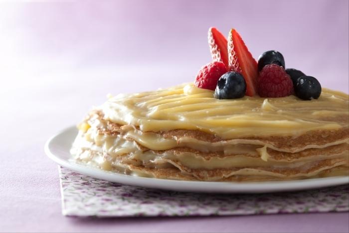 Recette de gâteau de crêpes au citron facile et rapide