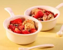 Recette crumble aux fraises et à la banane