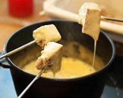 Recette fondue montagnarde aux fromages