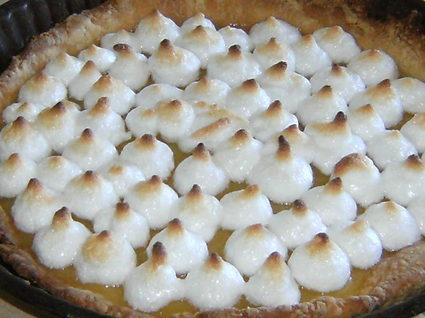 Recette de tarte au citron joliment meringuée