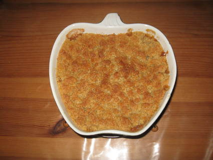 Recette crumble pomme rhubarbe (crumble)