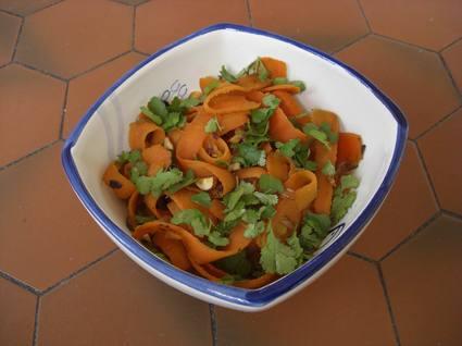 Recette de tagliatelles de carottes à la marocaine