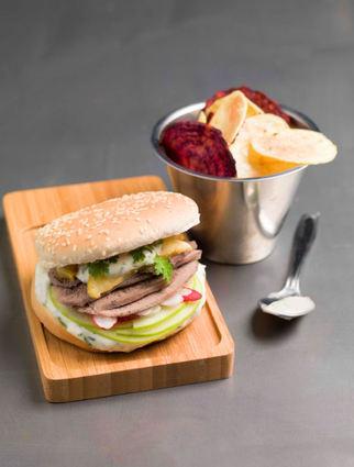 Recette de burger sucré-salé de langue de boeuf