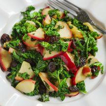 Salade de pomme feta et raisins secs