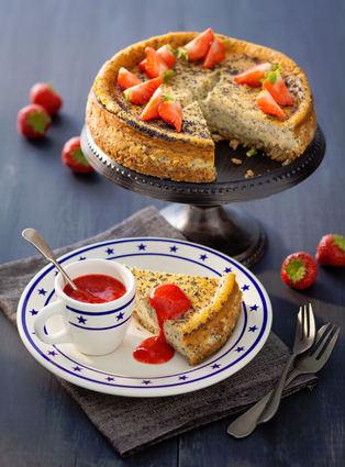 Recette de cheesecake vanille et pavot