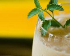 Recette verrine smoothie de poivron jaune et crème