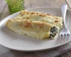 Recette cannelloni aux épinards et au saumon