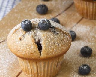 Recette de muffins légers aux myrtilles fraîches