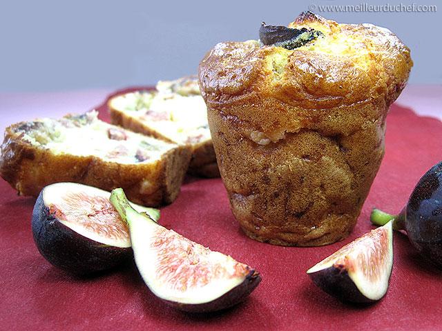 Muffin jambon et figues  fiche recette illustrée  meilleurduchef.com