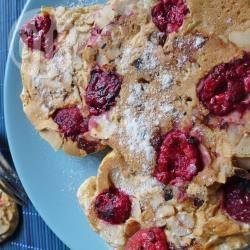 Recette pancakes framboises amandes au petit épeautre de kiwi ...