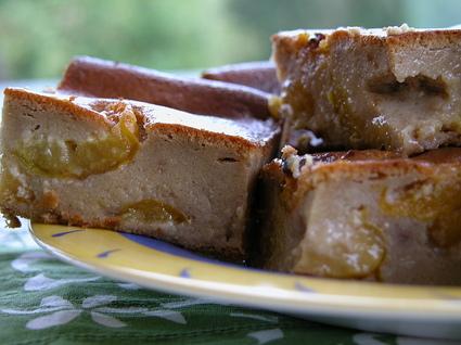 Recette de clafoutis de pain d'épice aux mirabelles