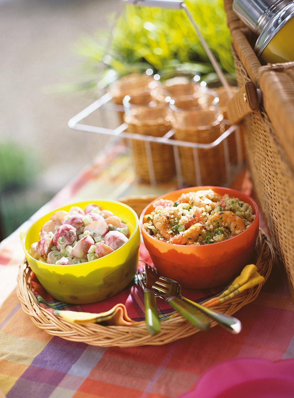 Salade de pommes de terre à la crème fouettée (