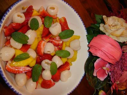 Recette de salade de fruits d'ici et d'ailleurs