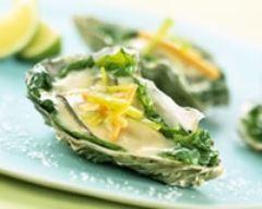 Recette huîtres chaudes gratinées aux épinards