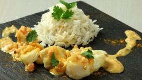 Curry de poisson et riz basmati, gingembre et citronnelle pour 6 ...