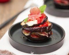 Recette mille-feuilles aubergine, mozzarella, tomates et jambon de ...