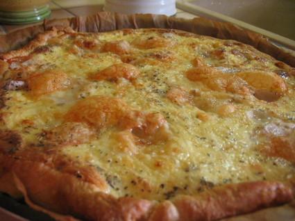 Recette de quiche au jambon et aux 4 fromages