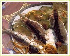 Recette sardines frites et courgettes aux piments