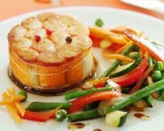Recette tournedos de surimi poêlé et ses légumes fondants