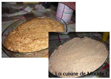 Recette de crumble au biscuit rose
