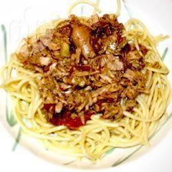 Recette linguine au thon frais, tomates séchées et artichauts ...