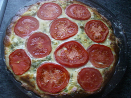 Recette de tarte tomates-petits pois
