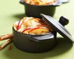 Recette mini cocottes de crumble de pommes