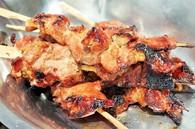 Recette de brochettes de porc moo yang
