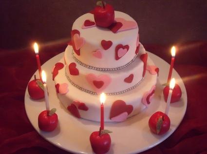 Recette de gâteau au chocolat célébration d'amour