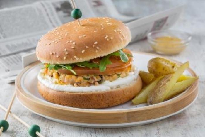 Recette de burger nordique au saumon facile et rapide
