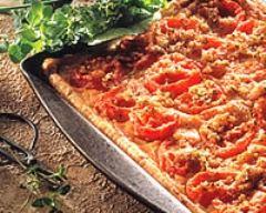 Recette tarte au thon à la tomate et au basilic