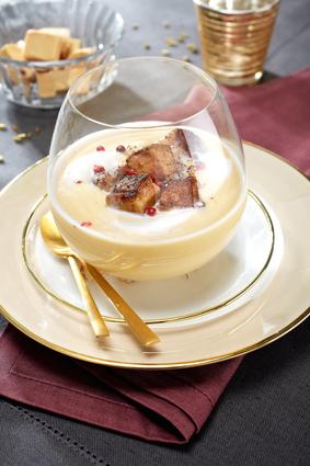 Recette de velouté de cocos blanc et de foie gras poêlé