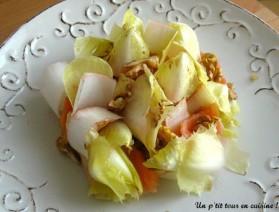 Salade d'endive aux noix et au saumon fumé pour 4 personnes ...