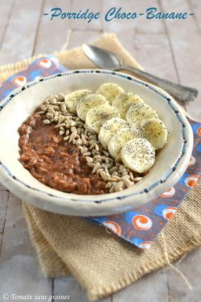 Recette de porridge choco-banane