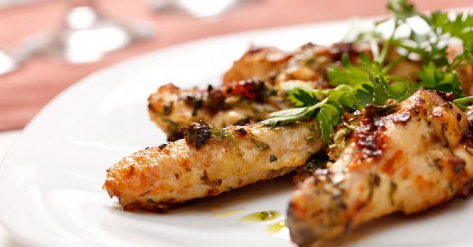Recette de poulet grillé libanais à la menthe poids plume