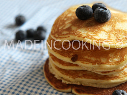 Recette de pancakes aux myrtilles